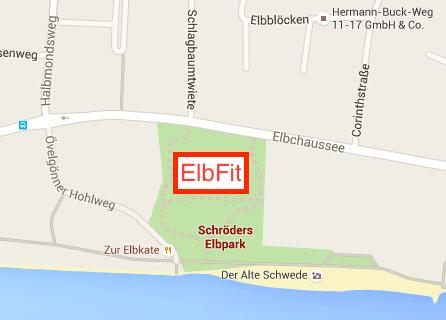 ElbFit Map Schröders Elbpark Hamburg