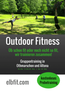 Outdoor Fitness Gruppentraining Flyer