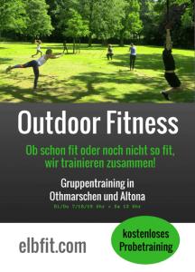 Outdoor Fitness Gruppentraining Flyer